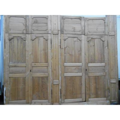 Suite Double Wood Panels And Double Doors Communication, Door In Softwoods