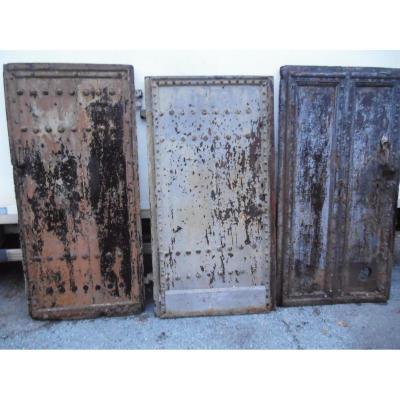 3portes Anciennes In Walnut, Door Languedocienne, End XVIeme