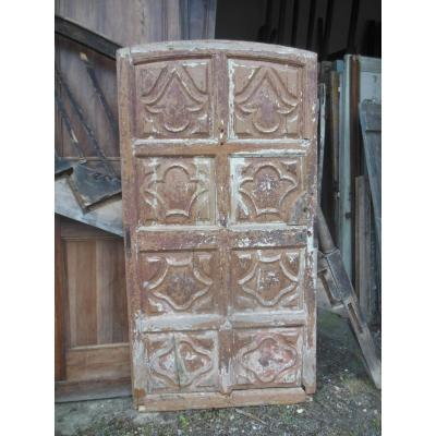 Porte ancienne  XVIIème très déco Panneau  résineux Louis XIV