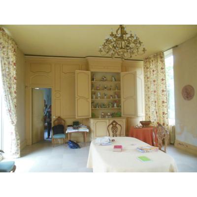 Wall Paneling With Wardrobe Buffet Door Panel Old Louis XV, XVIII Eme