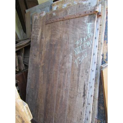 Porte ancienne en chêne. XVIème