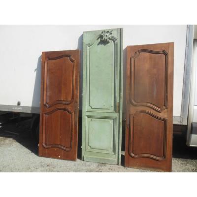 Suite Coherente De 3 Portes ,porte ancienne  en chêne