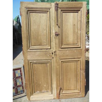 Pair Of Doors In Oak XVII Eme Century