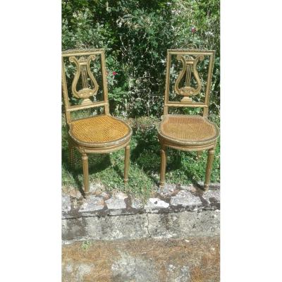 Pair Of Napoleon III Music Chairs
