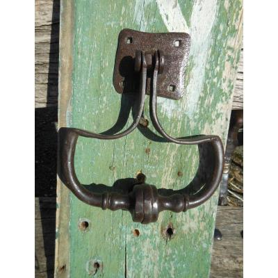 Regency Buckle Door Knocker In Wrought Iron