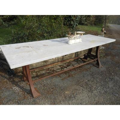 Large Industrial Table In Its Juice
