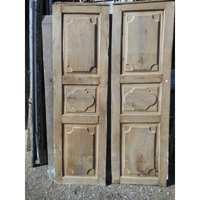 Pair Of Good Louis XIV Panel, Oak Woodwork