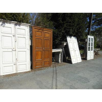 Suite Of 4 Pairs Of Double Sided Louis XIV Doors, Oak Woodwork