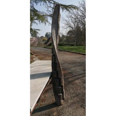 Heart-barrel Spiral-helical Staircase Oak XVIth