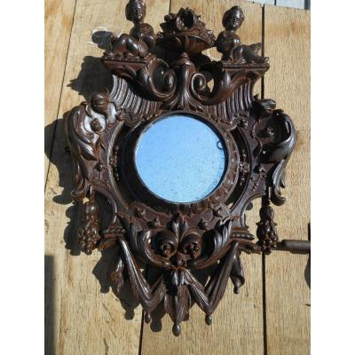 Insolite Miroir En Fonte 19 Eme