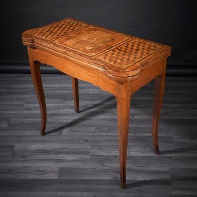 Zender Pierre, Louis XV, Game Table In Marquetry