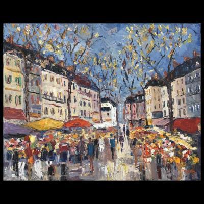 Alain Duperay (né En 1949), « Marché Automnal » (25 F)