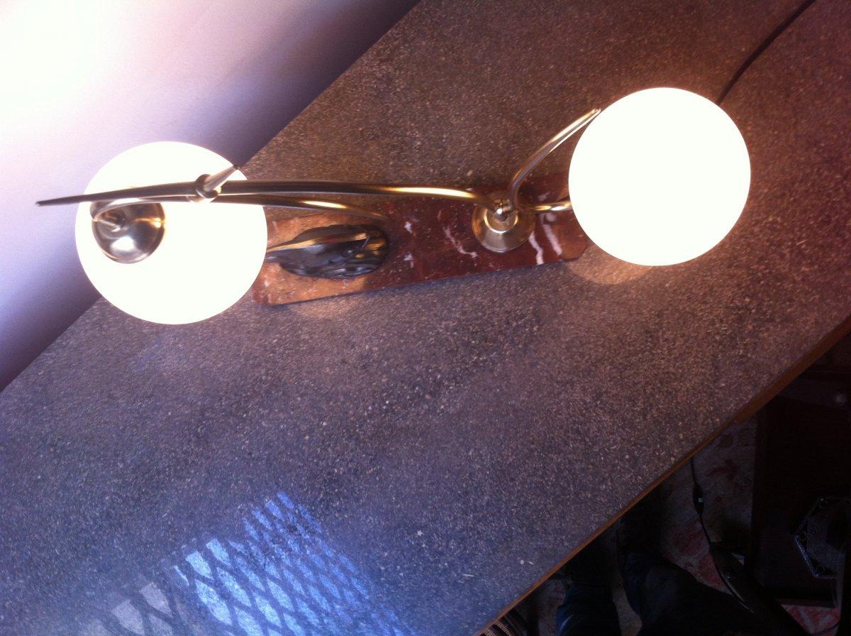 Lampe Au Poisson d'époque Art Déco-photo-3