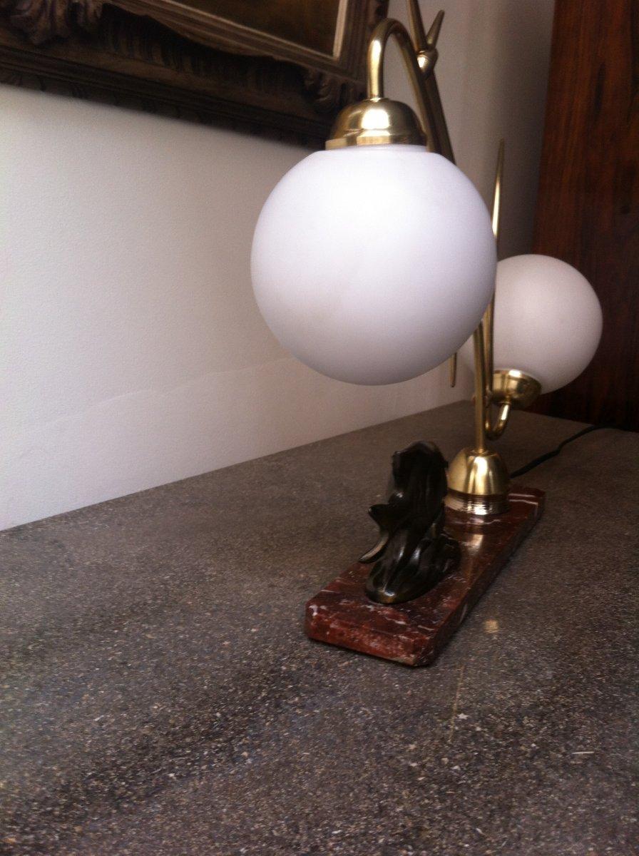 Lampe Au Poisson d'époque Art Déco-photo-4