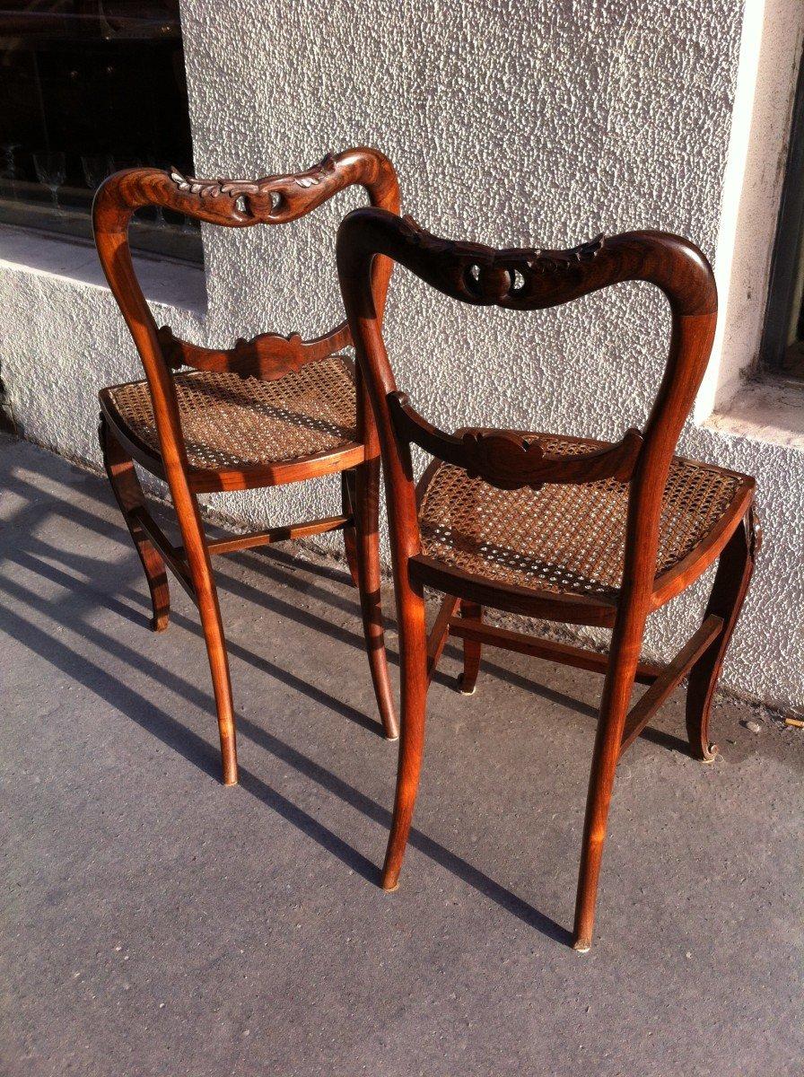 Paire De Chaises En Palissandre-photo-1