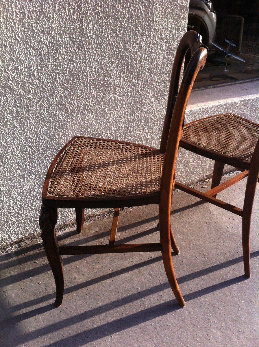 Paire De Chaises En Palissandre-photo-3