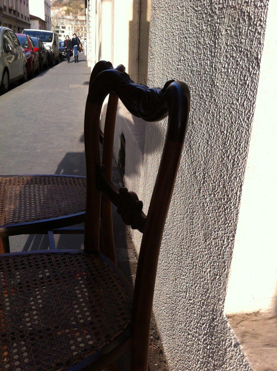 Paire De Chaises En Palissandre-photo-5