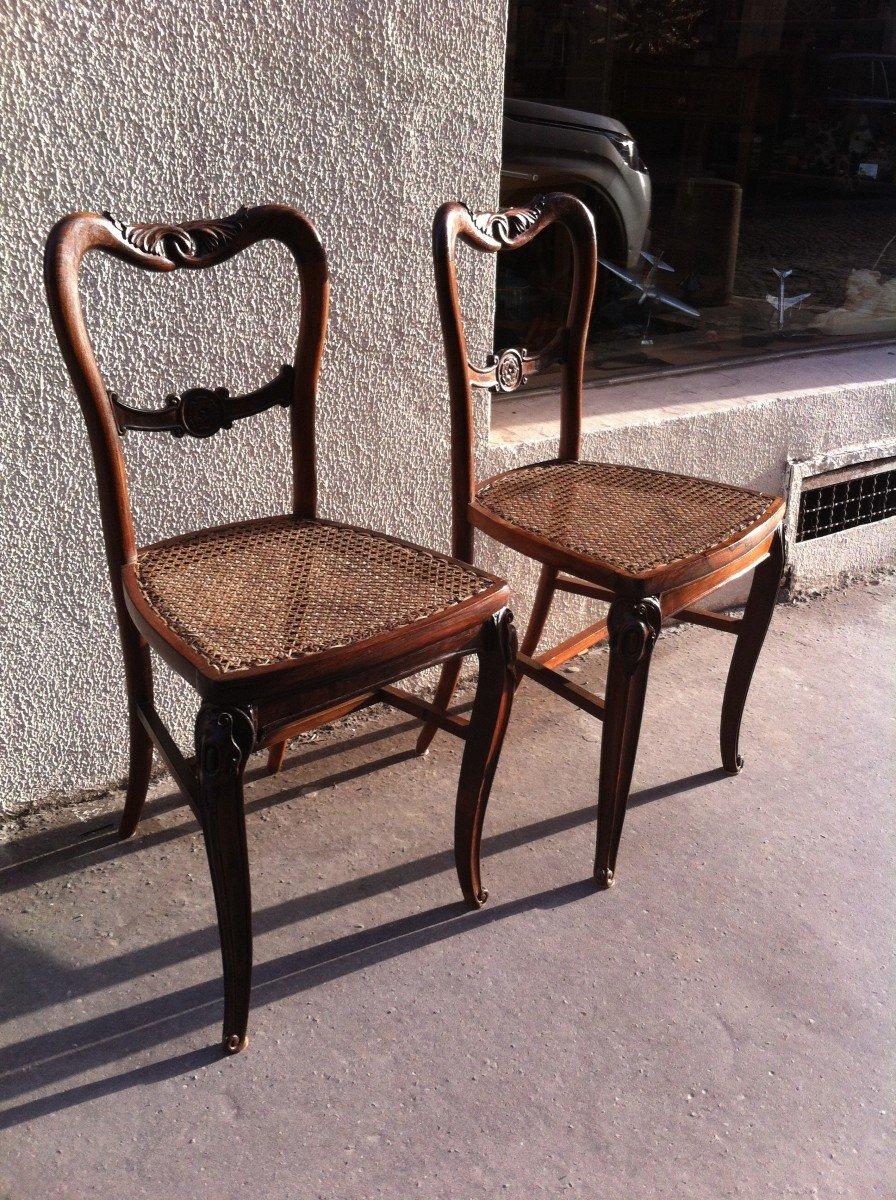 Paire De Chaises En Palissandre-photo-6