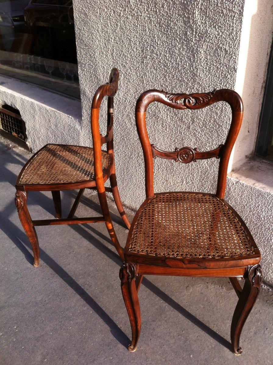 Paire De Chaises En Palissandre-photo-7