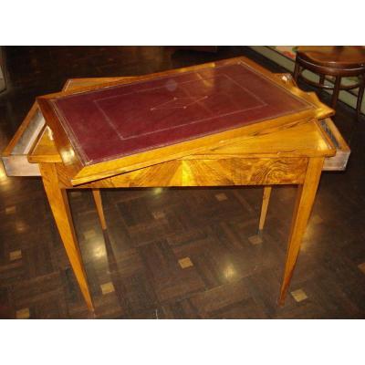Table Bureau Jeu d'époque Directoire En Noyer