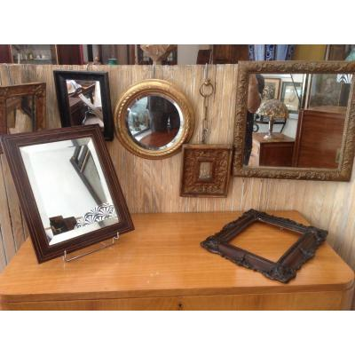 7 Small Vintage Mirrors