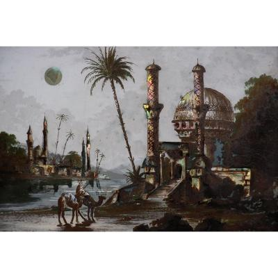 Orientalist Pearlescent Painting