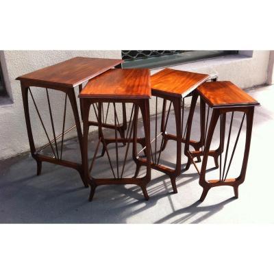 Table Gigogne d'époque Art Nouveau