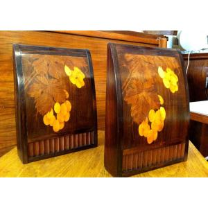 Marquetry Bookends