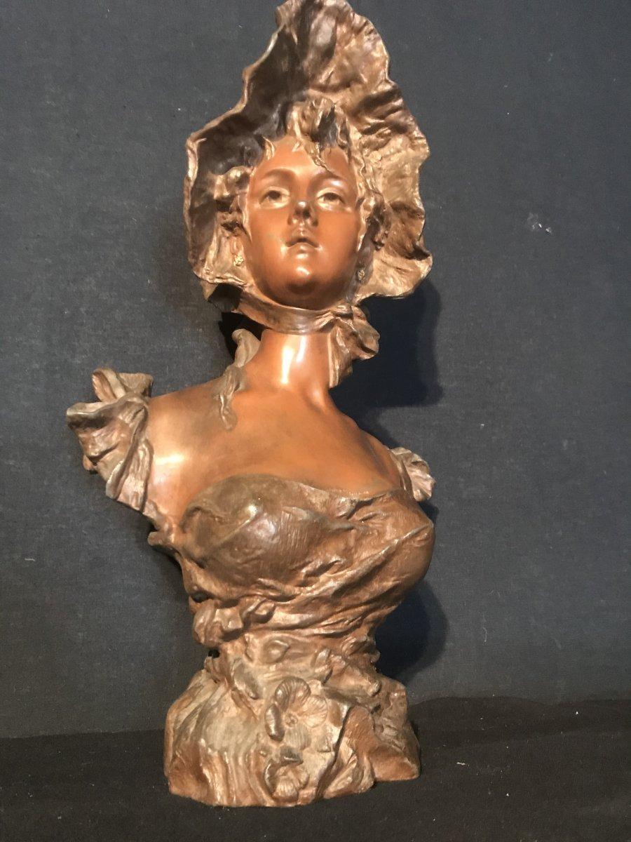 Buste En Régule A Patine Bronze