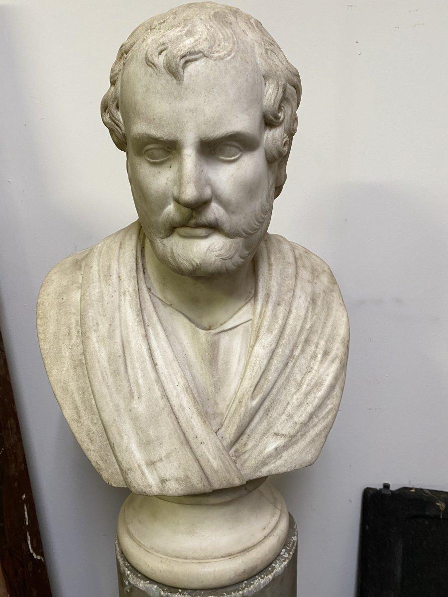 Buste En Marbre Italien XVIII