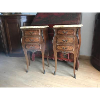 Pair Of Louis XV Style Nightstands