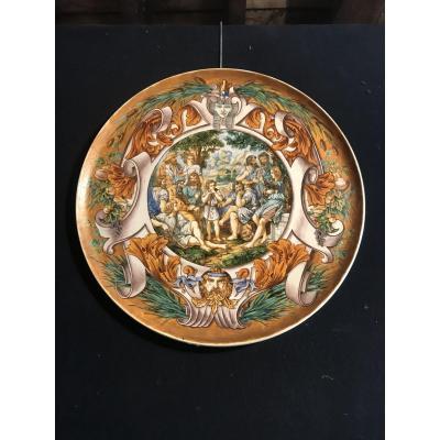 Plat Dans Le Goût De La Renaissance En Porcelaine De Blois