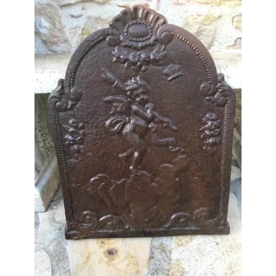 Plaque De Cheminée à Décor D'angelots