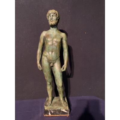 Naked Man In Bronze By Jocep Busquets Odena