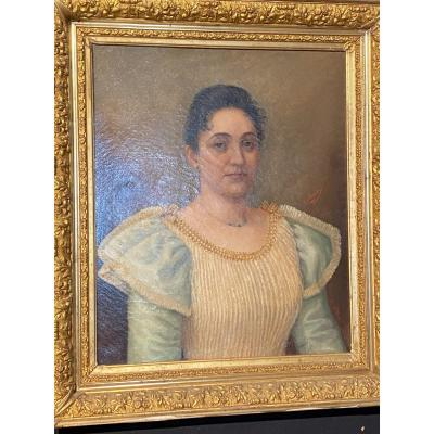 Portrait Of Elegant Late Nineteenth