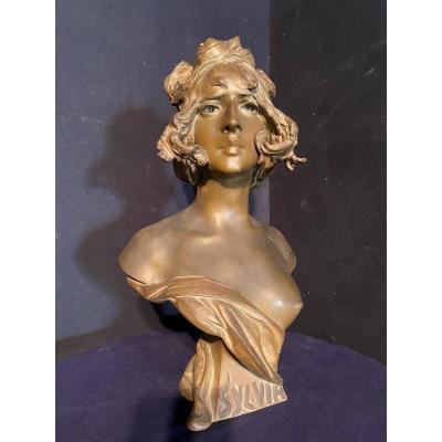 Buste En Régule Art Nouveau De Nelson