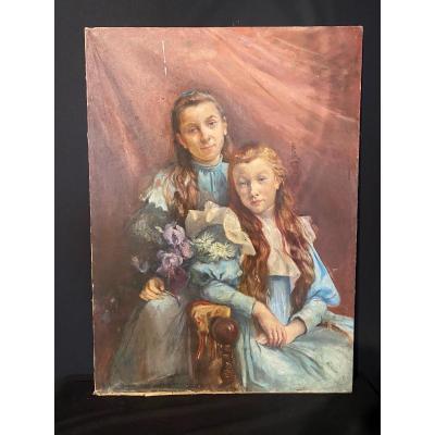 Portrait De Jeunes Filles Impressionniste