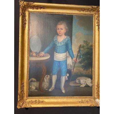 Portrait Of Young Boy Late 18th Century