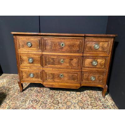 Louis XVI Chest Of Drawers In Ressaut