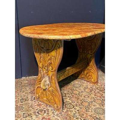 Country Painted Wood Table