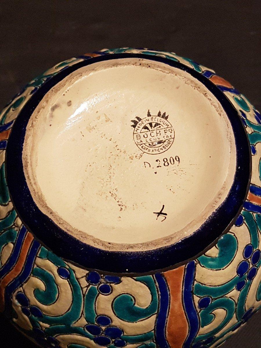 Vase globulaire en faïence - Boch Keramis -photo-4