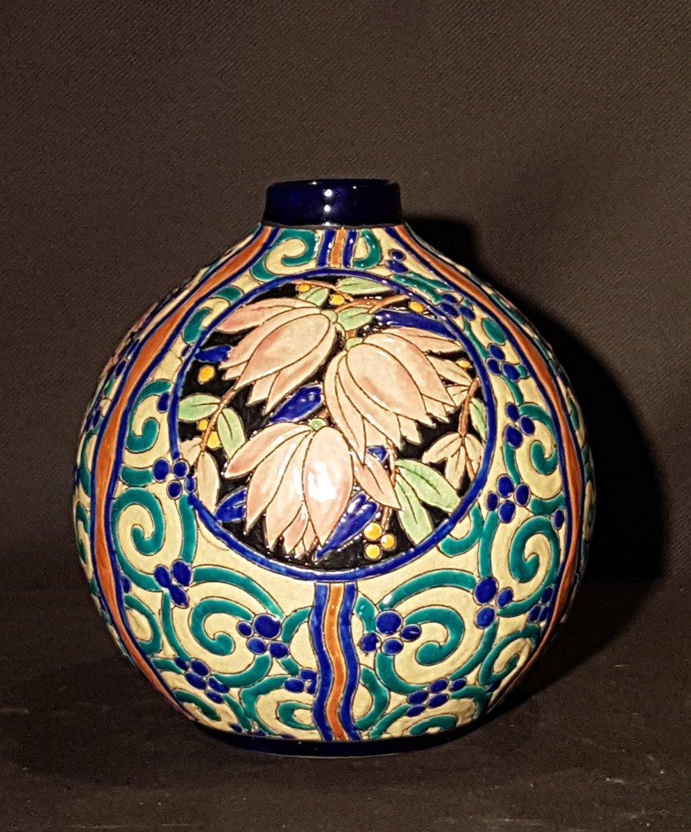 Vase globulaire en faïence - Boch Keramis