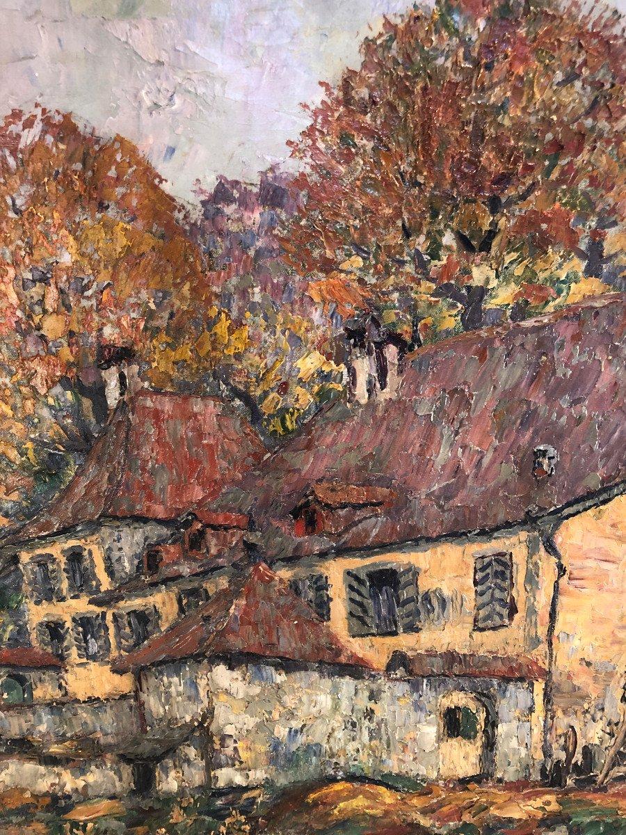 Oil On Canvas - Landscape - Signed Charles Baillon-vincennes - Dated 17 - Dim. 61 X 81cm-photo-1