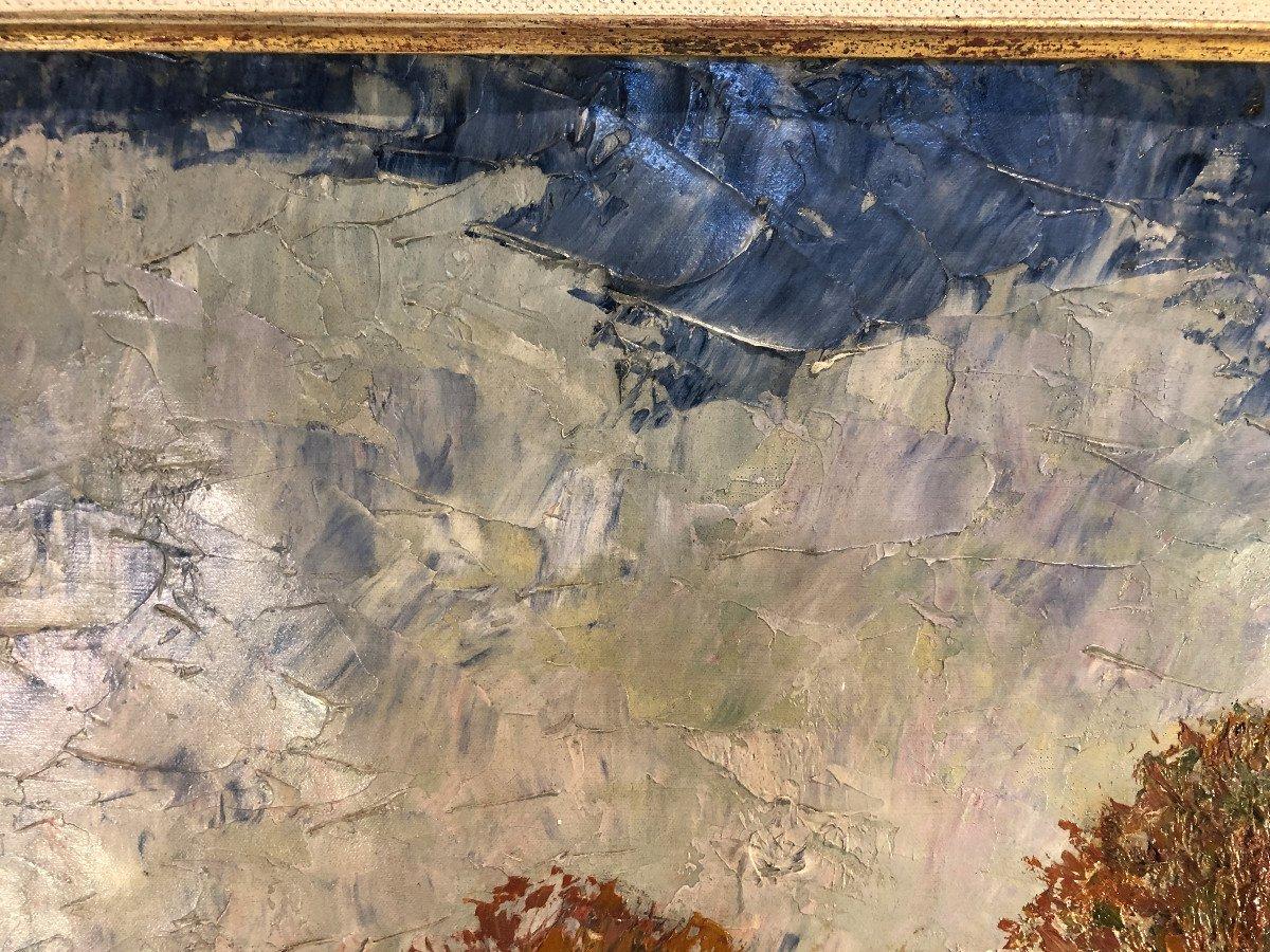 Oil On Canvas - Landscape - Signed Charles Baillon-vincennes - Dated 17 - Dim. 61 X 81cm-photo-7