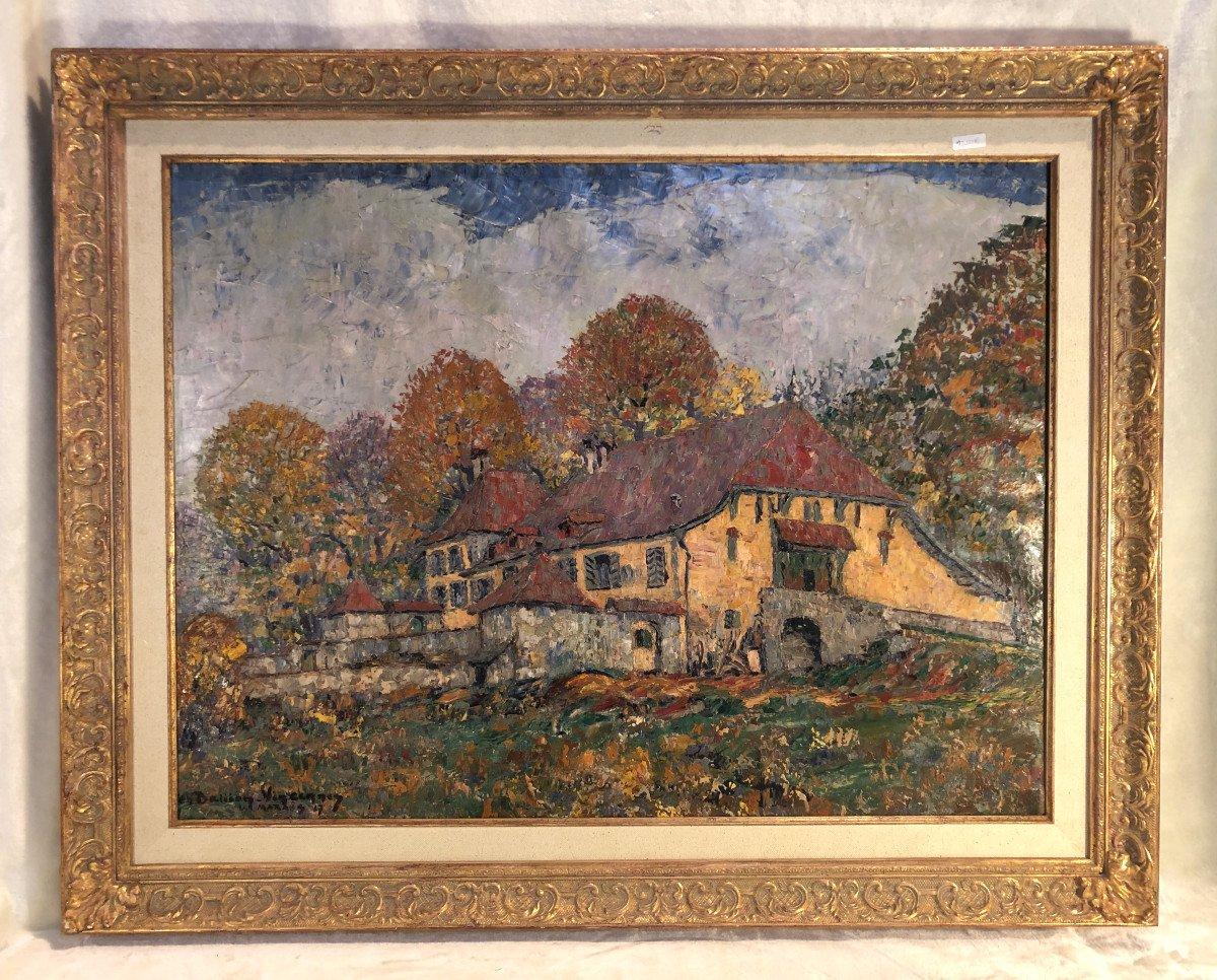 Oil On Canvas - Landscape - Signed Charles Baillon-vincennes - Dated 17 - Dim. 61 X 81cm