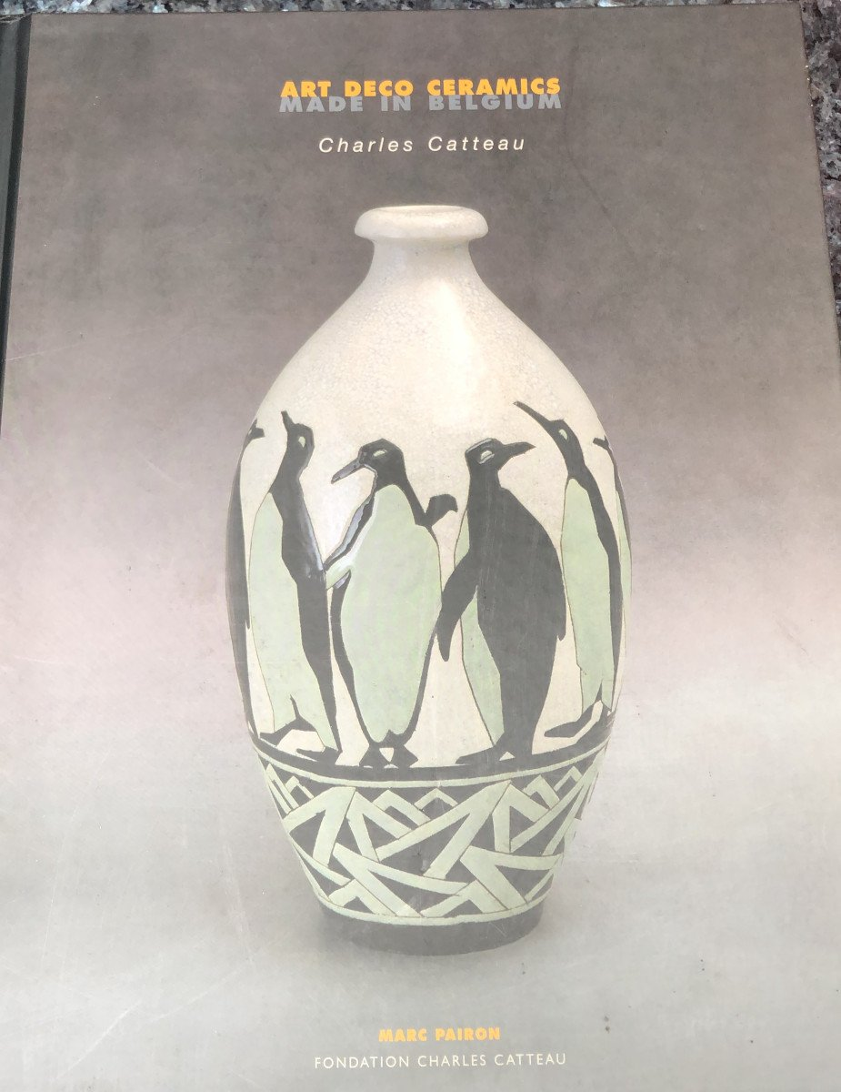 Plain White Vase On Foot - Boch Keramis - Without Decor - Dim. 27 X 17cm - F1316-photo-3