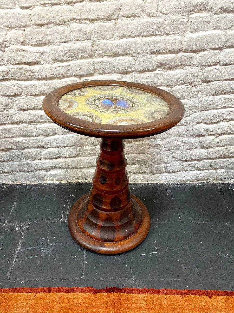 Table Art Deco Brésilien Signée Formanek