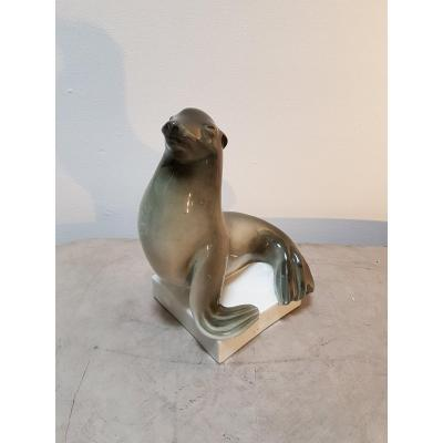 Phoque en porcelaine - Cerabel