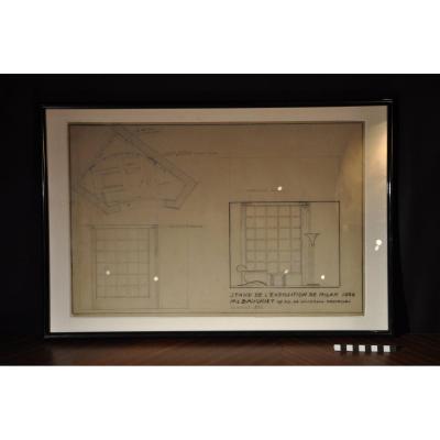 Plan du stan de l'exposition de Milan 1956 -  Marcel Baugniet