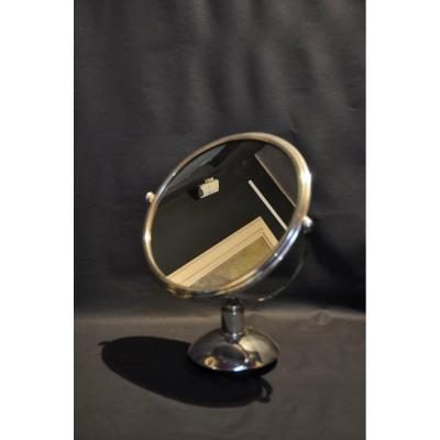 Art Deco Sterling Silver Mirror C. 1940